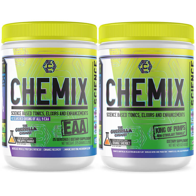 CHEMIX- ESSENTIAL AMINO ACIDS + KING OF PUMPS (FORMULATED BY THE GUERRILLA CHEMIST)