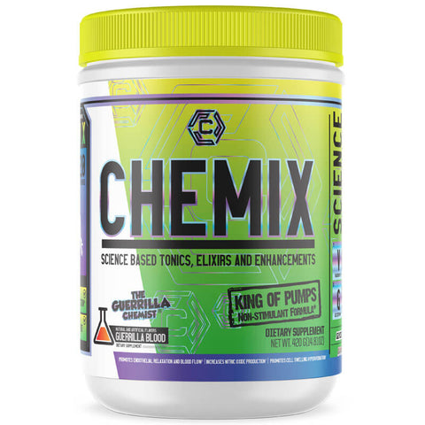 CHEMIX PRE WORKOUT (40 SERVINGS) + KING OF PUMPS + CORTIBLOC (STACK W/ FREE LIMITED EDITION SHAKER CUP)