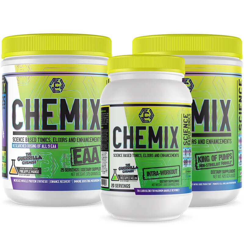 CHEMIX- ESSENTIAL AMINO ACIDS + PRE-WORKOUT + INTRA WORKOUT (STACK)