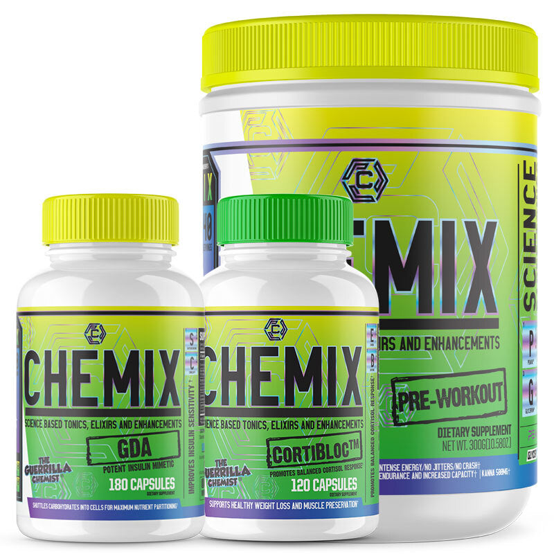 CHEMIX PRE-WORKOUT + CORTIBLOC + GDA (STACK)