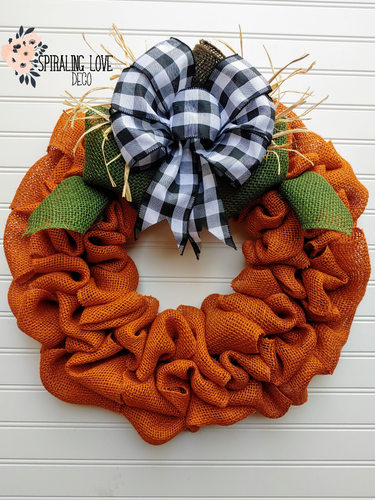 Pumpkin Farm Burlap Wreath