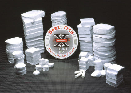 Bore Tech 100% Cotton Patches 500 Pak
