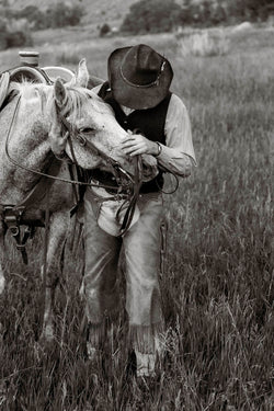 Spencer Clark with his horse I Tom Kirkendall
