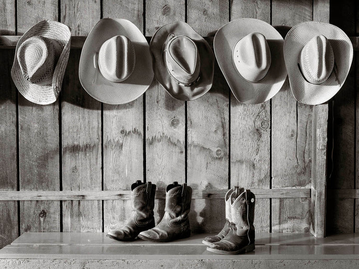 Hats and Boots at the Ranch I Tom Kirkendall