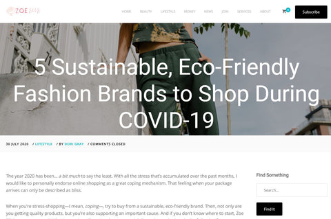 sustainable ecofriendly fashion brands you can shop now