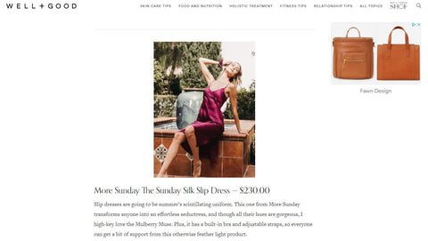 well and good article on more sunday silk slip dress mulberry silk what is it effortless lightweight support vibrant color purple magenta slip dress essentials