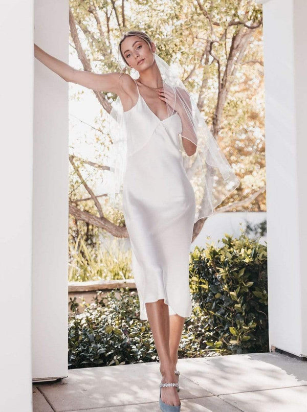 White X Slip Dress Light Champagne lunya morgan lane