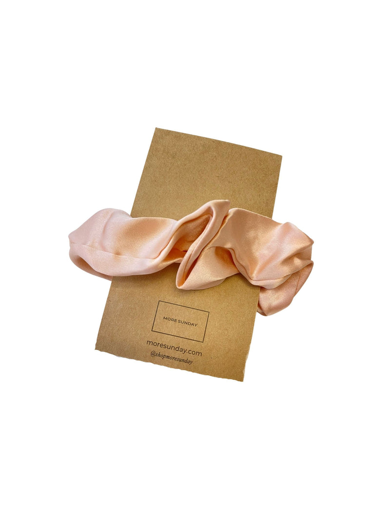 BlushPink#Silk Scrunchie Hair Accessory Look Polished Anytime | More Sunday Bridal Proposal Silk Scrunchie Sets lunya morgan lane