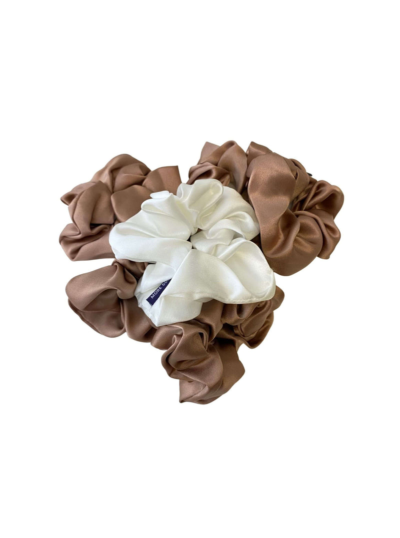 Silk Scrunchie Hair Accessory Look Polished Anytime | More Sunday Bridal Proposal Silk Scrunchie Sets lunya morgan lane