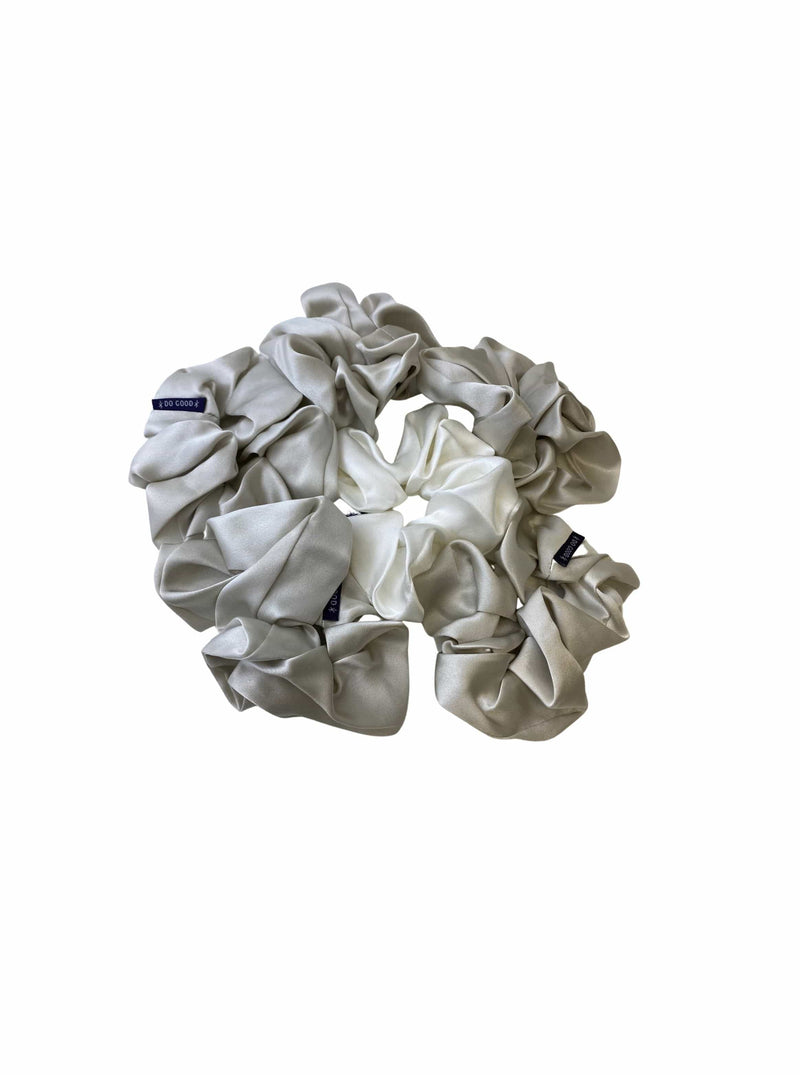 Silver Mist Grey#Silk Scrunchie Hair Accessory Look Polished Anytime | More Sunday Bridal Proposal Silk Scrunchie Sets lunya morgan lane