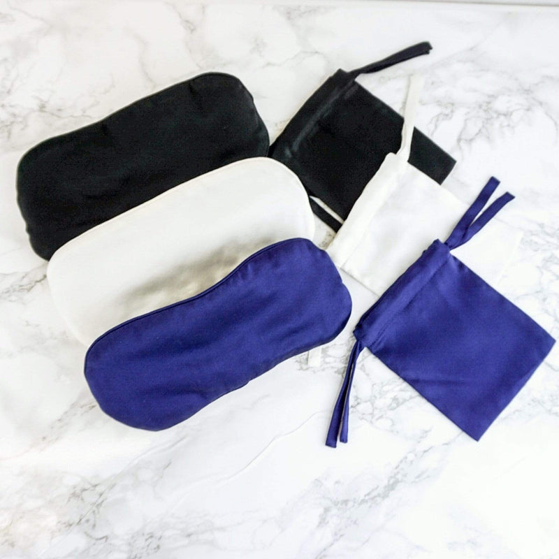 100% Mulberry Silk Sleep Mask Adjustable Strap| MORE SUNDAY Women's Sleep More Silk Eye Pillow · Light Champagne lunya morgan lane