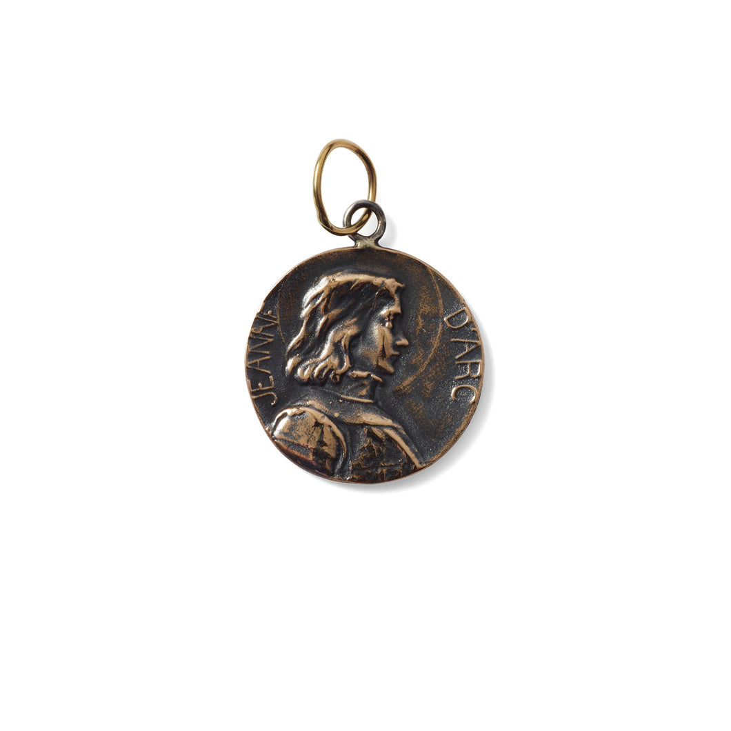 EXTRA LARGE JOAN OF ARC PENDANT- BRONZE