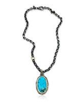 Load image into Gallery viewer, LARGE TURQUOISE PENDANT