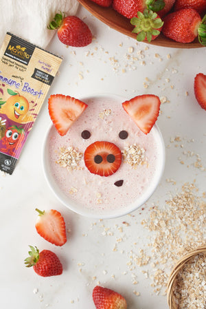 Strawberry Oatmeal Smoothie Bowl