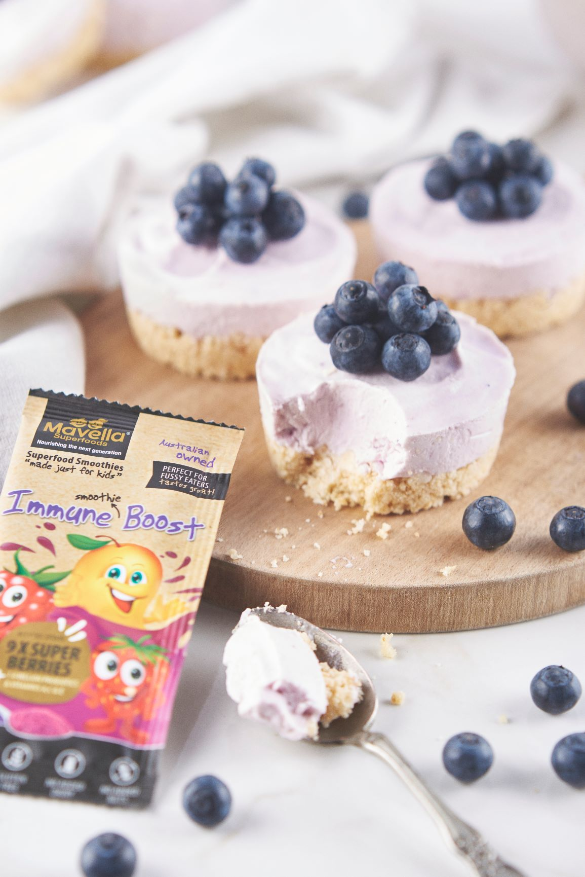 Mini Blueberry Cheesecake