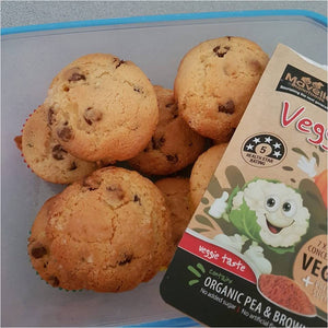 Chocolate Chip Muffins with Veggie Boost