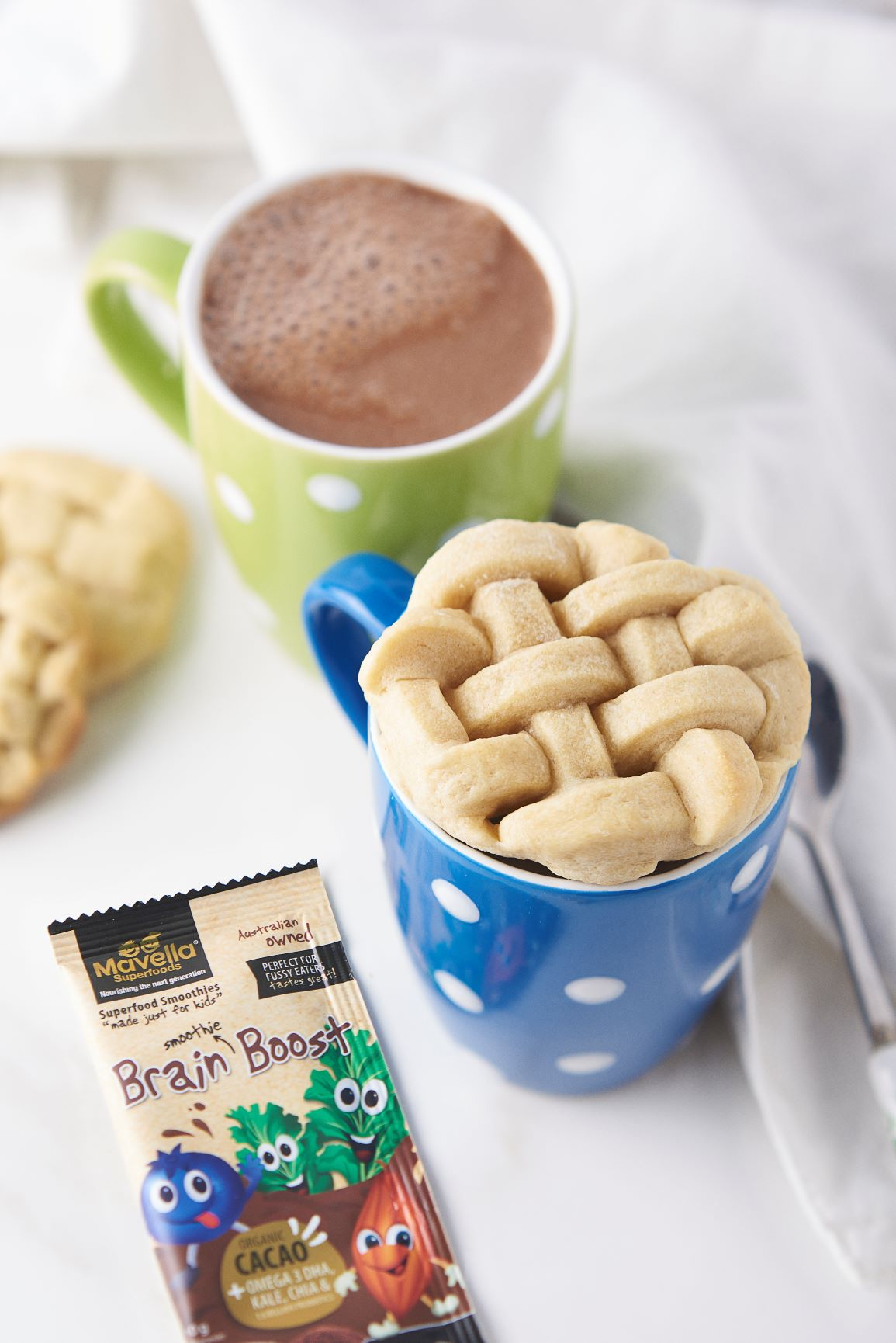 Hot Chocolate with Cookie Lid
