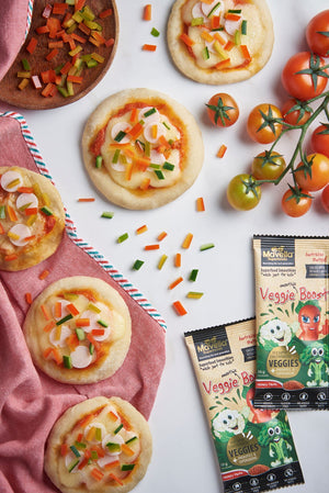 Mini Pizzas with Veggie Sprinkles