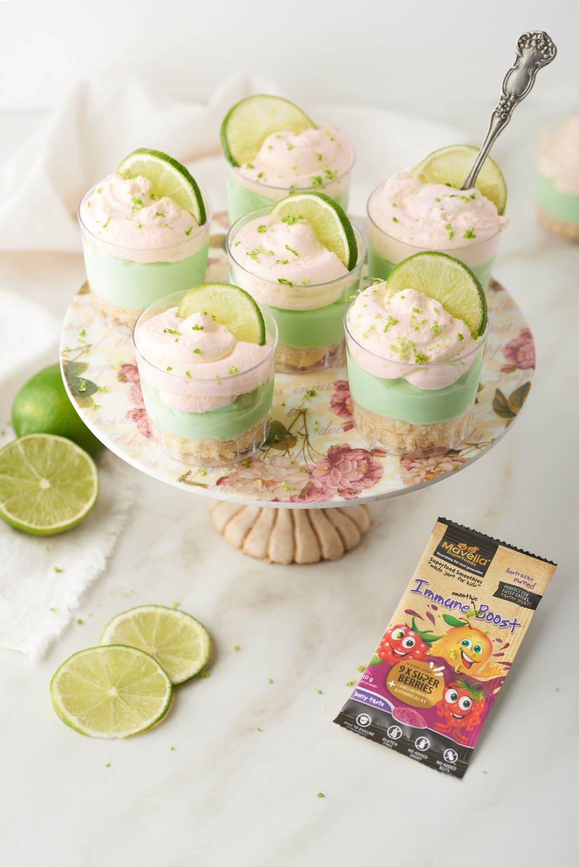 Key Lime Cheesecake Shooters