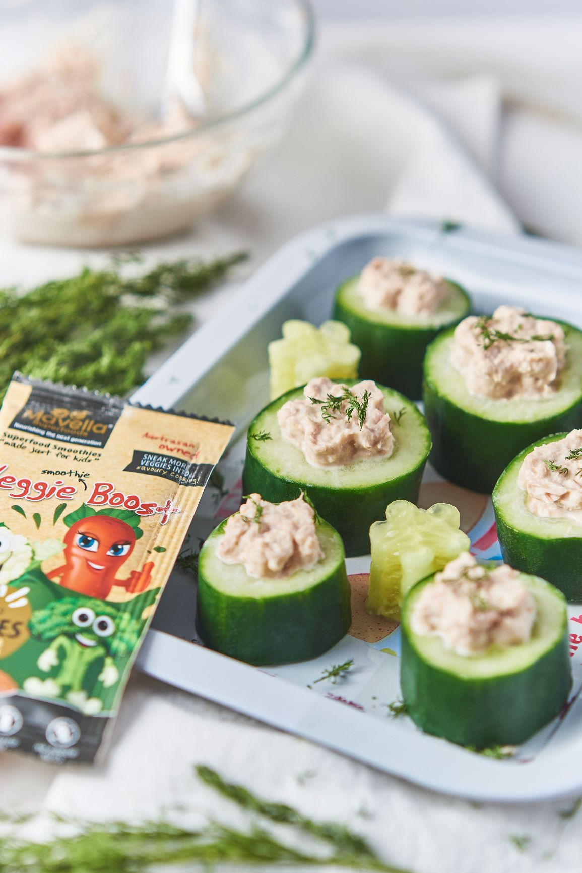 Tuna Cucumber Cups
