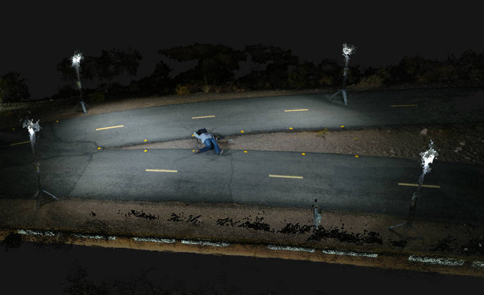 Case Study: Use of Drones and Lighting in Night Crime Scene Reconstruction