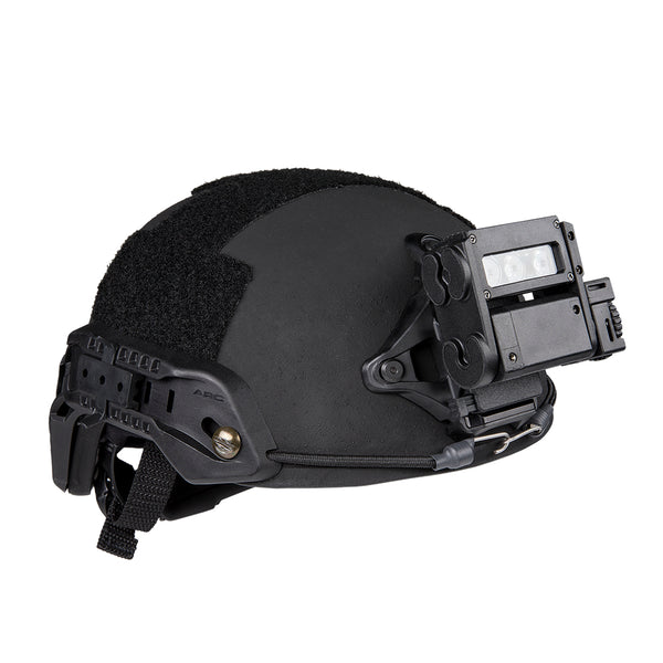 FoxFury HHC Tactical Light - shown on a helmet