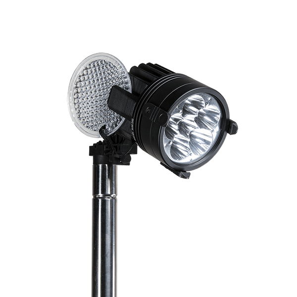 Nomad® Prime Portable Area-Spot Light - Durable and portable scene light delivers up to 4,000 lumens. Waterproof and rechargeable light can run up to 24 hours. Light head