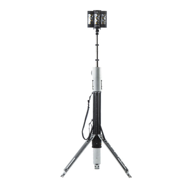 FoxFury Nomad® T56 Production Light - Cordless, battery powered production light extends up to 8.5ft (2.6m) tall to deliver up to 8,200 lumens of 95 CRI 5600K daylight balanced lighting