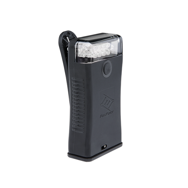 FoxFury Scout Clip Light in Black has White LEDs