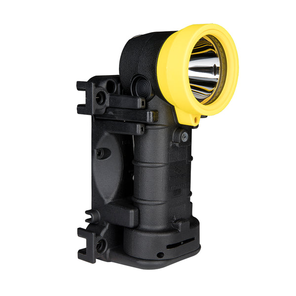 FoxFury Breakthrough® BTS Rechargeable Right Angle Light - shown in black and yellow