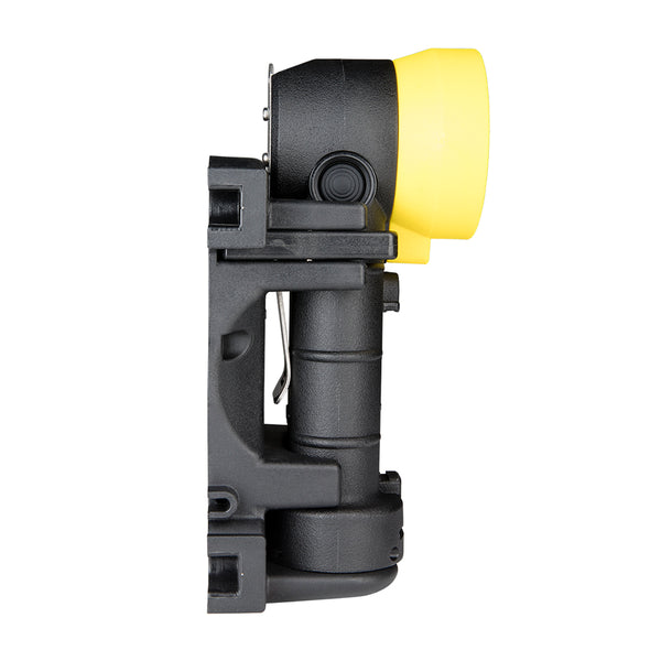 FoxFury Breakthrough® BTS Rechargeable Right Angle Light - Black and Yellow Side View