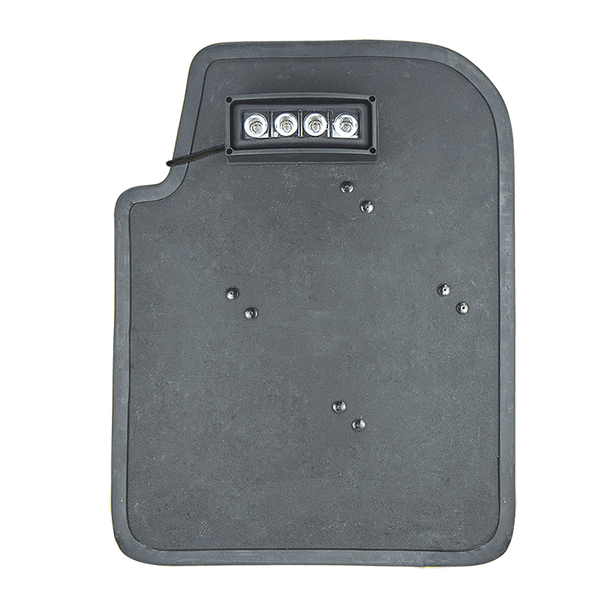 FoxFury Taker B50 Ballistic Shield Light - shown on a ballistic shield