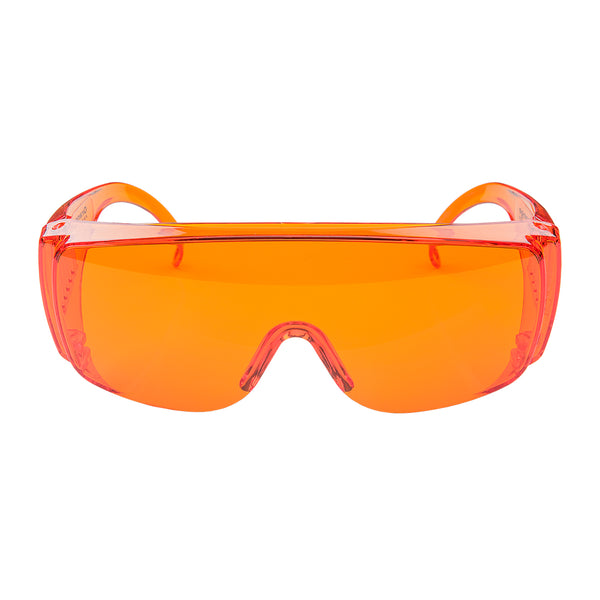 Goggles: Orange - sold by FoxFury. Polycarbonate goggles have anti-fog air circulation slots and provide 100% UV protection