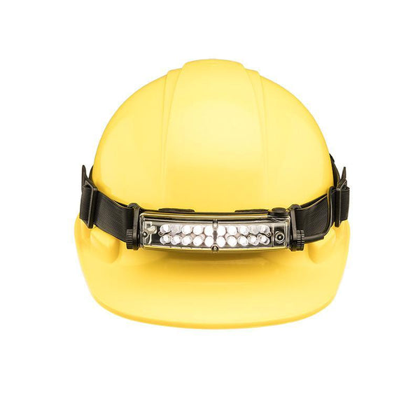 FoxFury Silicone Strap for safety hats and fire helmets shown on a hardhat