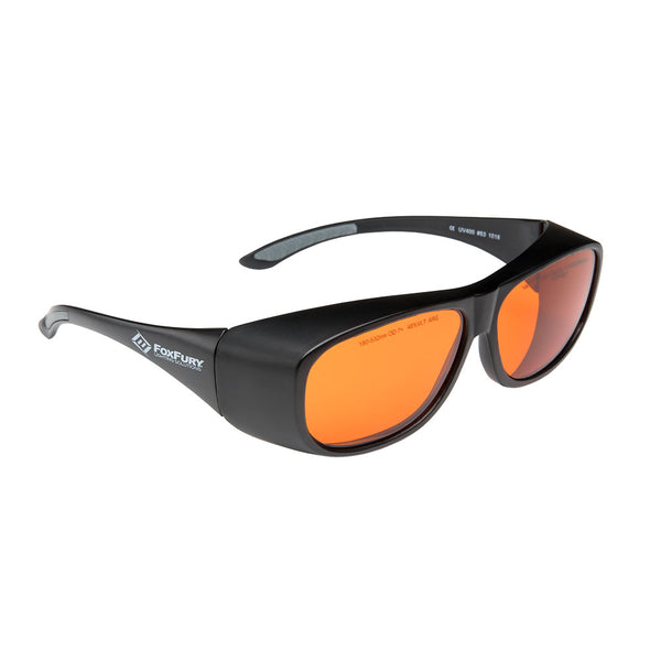 Laser Goggles OD 7+ Orange by FoxFury - modern look, superior coverage and are CE certified