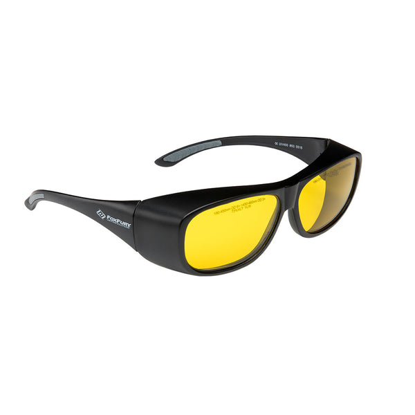 Laser Goggles OD 6+ Yellow by FoxFury - modern look, superior coverage and are CE certified