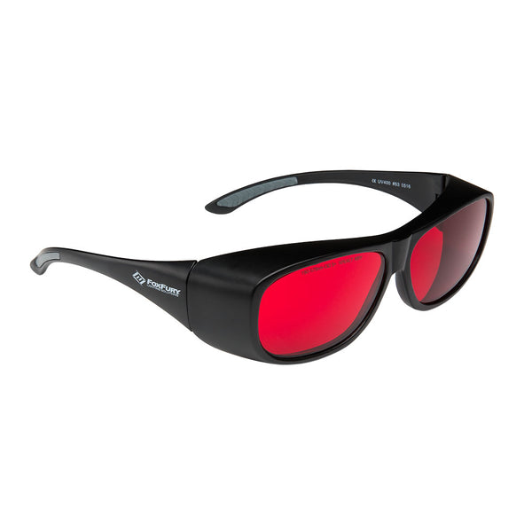 Laser Goggles OD 5+ Red by FoxFury - modern look, superior coverage and are CE certified