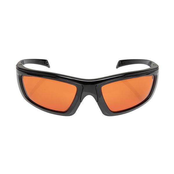 FoxFury CS Eye Glasses for Forensics shown in orange