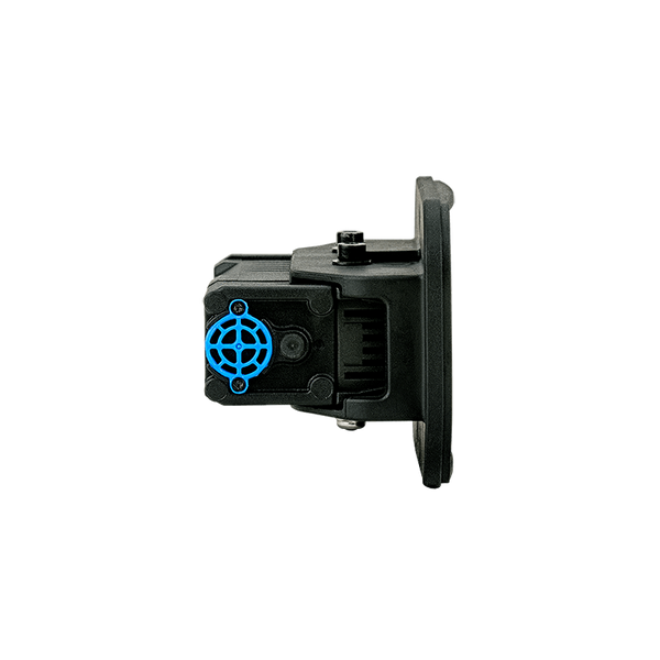 FoxFury Taker R40 Riot Shield Light - 650 Lumens, Rechargeable, Impact and Fire Resistant. Side view.