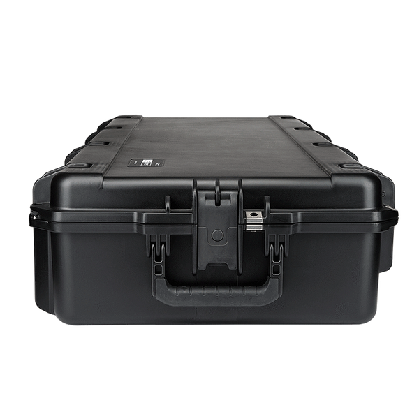 Multi Nomad® Case by FoxFury - Tough and durable case has foam plugs for optimizing inside product configuration. Folding side, top handles and wheels make for easy transport