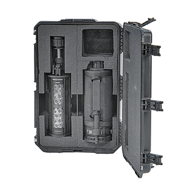 Nomad® Transformer® Field Kit - Case shown with Transformer Light head and Battery Power Pack