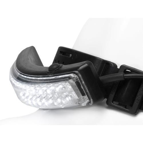 FoxFury Performance Intrinsic Tasker LED Helmet Light - can be used in hazardous areas. Tilt bar allows you to adjust the light where you need it