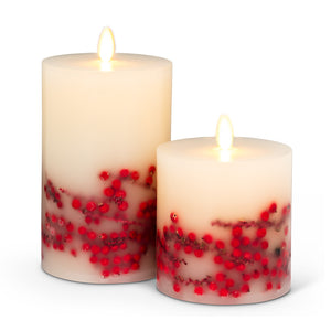 Reallite Candles - Red Berry Flameless 6""