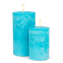 Load image into Gallery viewer, Wax Pillar Candle - Turquoise 5""