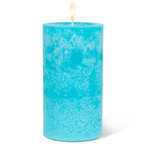 Wax Pillar Candle - Turquoise 5""