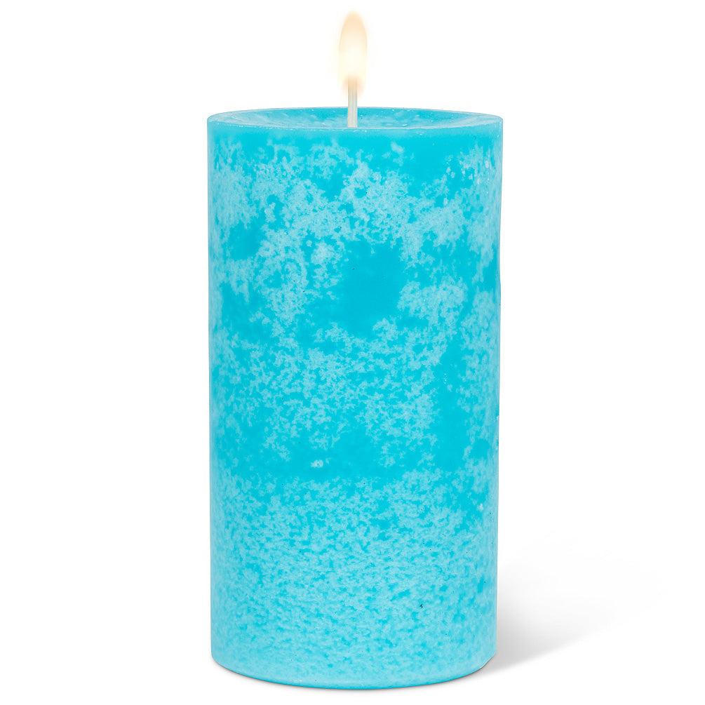 Wax Pillar Candle - Turquoise 5