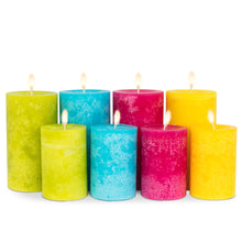 Load image into Gallery viewer, Wax Pillar Candle - Lime 5""