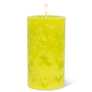 Wax Pillar Candle - Lime 5""