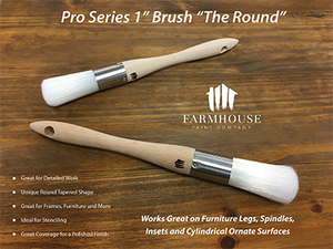 "Farmhouse Paint - Paint Brushes Pro Series 1"", ""The Round"""