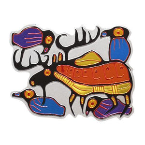 Metallic Magnets by Norval Morrisseau, Ojibwa